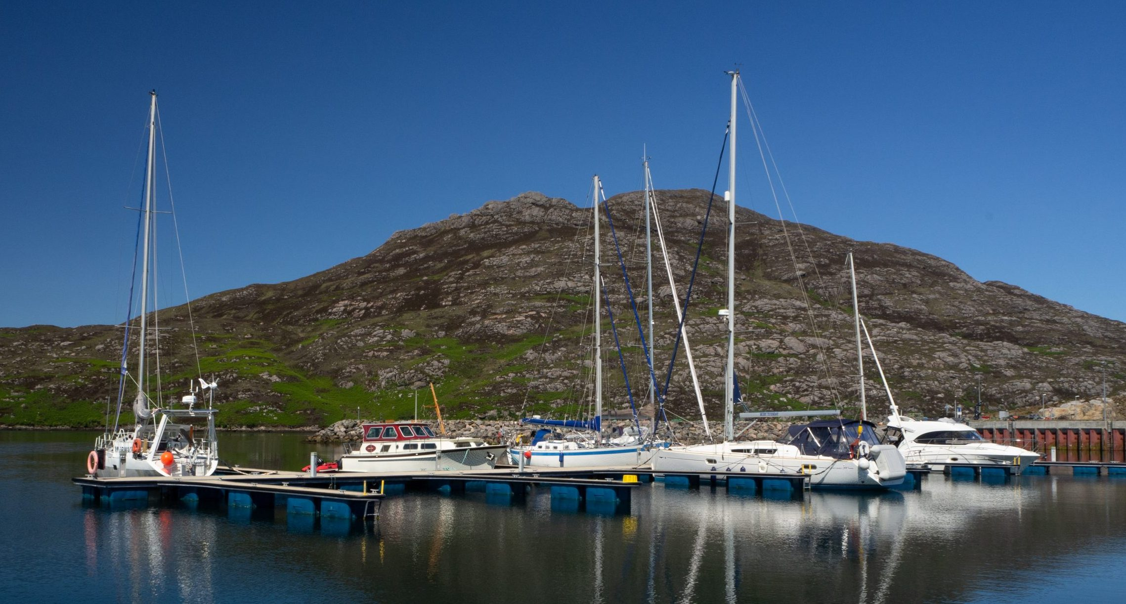 Lochboisdale Harbour from the water